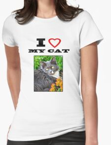 I LOVE MY CAT - Gracie Womens Fitted T-Shirt