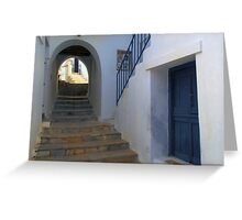 Marble stairs Greeting Card