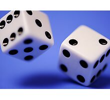 Tossing Dice Photographic Print