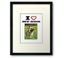 I Love MY DOG - Jersey Girl Framed Print