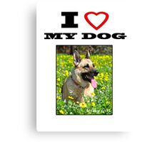 I Love MY DOG - Jersey Girl Canvas Print