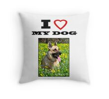 I Love MY DOG - Jersey Girl Throw Pillow