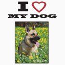 I Love MY DOG - Jersey Girl by Coralie Plozza