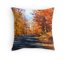 October Drive Throw Pillow