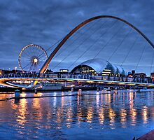 Newcastle Quayside at Night by Ann Garrett