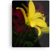 Low-key Yellow Lily Metal Print