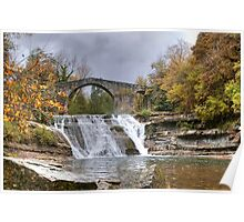 Brusia Bridge and Waterfall Poster