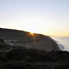 October Sunrise over Burton Bradstock beach in Dorset by Chris Monks