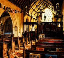 Inside Barsham Holy Trinity Church,  by Karen  Betts