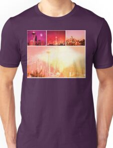 Shades of Red Space Needle Unisex T-Shirt