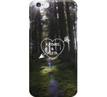 Katniss & Peeta <3 - Forest (personalisation available) iPhone Case/Skin