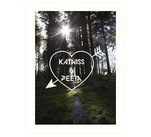 Katniss & Peeta <3 - Forest (personalisation available) Art Print