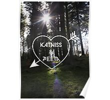 Katniss & Peeta <3 - Forest (personalisation available) Poster