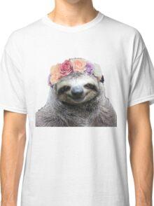 Flower Crown Sloth Classic T-Shirt