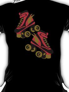 Cool golden roller skates Roller Derby T-Shirt