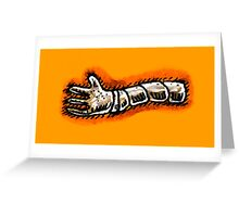 Robotic hand Greeting Card