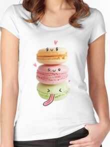 Funny Macarons Women's Fitted Scoop T-Shirt
