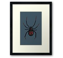 Lucky Number Black Widow Framed Print