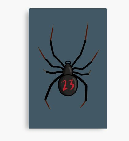 Lucky Number Black Widow Canvas Print