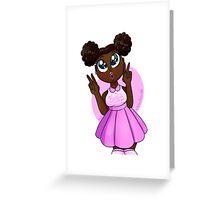 Black Barbie Greeting Card