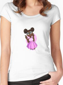 Black Barbie Women's Fitted Scoop T-Shirt