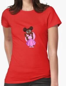 Black Barbie Womens Fitted T-Shirt
