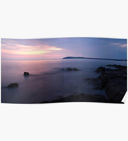 Dusk on the Adriatic sea Poster