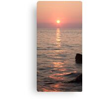 Pink sunset over the Istrian peninsula Canvas Print