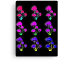Psychedelic mushrooms Canvas Print