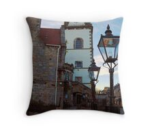 The Jubilee clock tower - Queensferry Throw Pillow