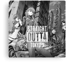 Straight outta tokyo-3 Canvas Print