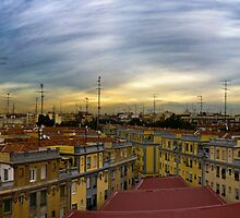 Roofs in Madrid by Luca Tranquilli