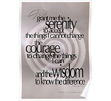 Serenity Prayer 02 © Vicki Ferrari Poster