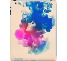 Psychedelic Ink Splash Watercolor Girl Portrait iPad Case/Skin