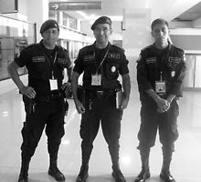 Airport Guards in Guatemala City by heatherfriedman