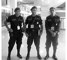 Airport Guards in Guatemala City Photographic Print