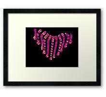 Pink Jewels Framed Print