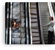 escalator stares Canvas Print