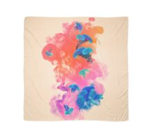Psychedelic Ink Jellyfish Dream Watercolor Scarf