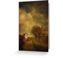 Little vineyard house Greeting Card