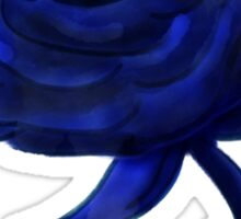 Blue rose on stem Sticker