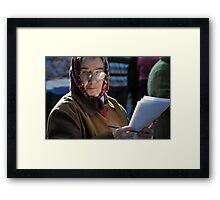 Face of elections Framed Print