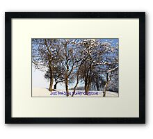 Just for You Merry Christmas Framed Print