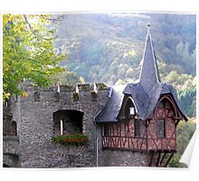 Overlook at Cochem Castle Poster