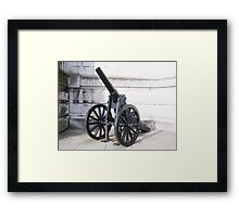 War Cannon Framed Print