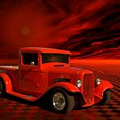"1932 Ford Pickup Truck ""Orange Juice Three"" by TeeMack"