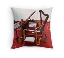 Miniature Orchestra Throw Pillow