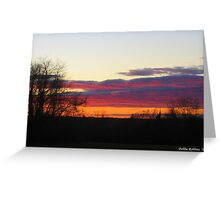 November 1, 2010 Sunset in Connecticut Greeting Card