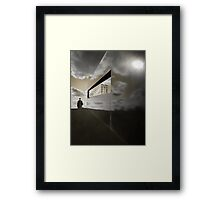 A window in the sky Framed Print