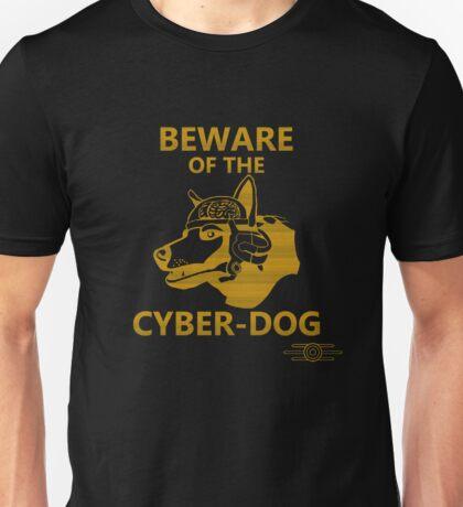 Beware of the Cyber-dog Mojave Desert Orange Unisex T-Shirt